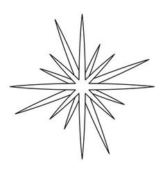 Christmas star celebration decoration light vector
