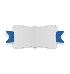 Festive empty card on blue ribbon vector