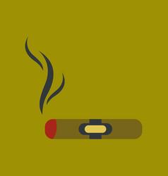 Flat icon on background cuba cigar vector