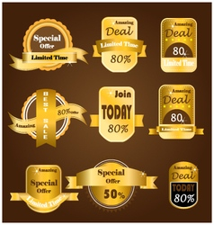 Gold sale banner vector image vector image
