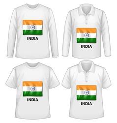 India shirts vector image vector image