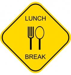 lunch break vector image