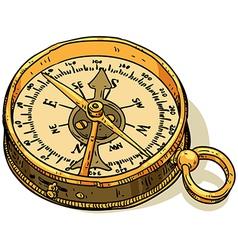 Marine theme compass vector