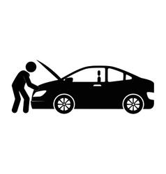 Mechanic service isolated icon vector
