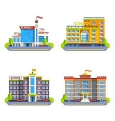 Modern and classical school buildings vector
