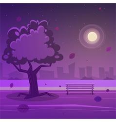 Night park vector