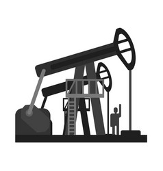 Oil pump jacks oil industry production equipment vector