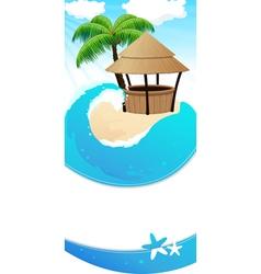 Resort background vector image