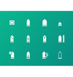 Safe sex condoms icons on green background vector