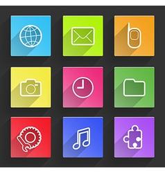 Set of flat design infographic elements vector image