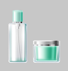 Set of light blue glass vector