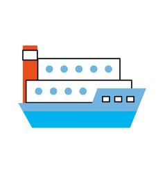 Ship cargo isolated icon vector