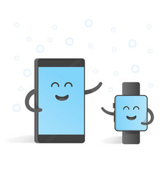 Smartphone concept connections with smart watches vector
