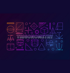 Trigonometry colorful banner or vector