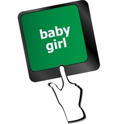 Computer keyboard key button - baby girl vector