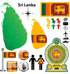 Sri Lanka map vector image