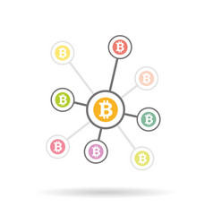 bitcoin money with circles vector image