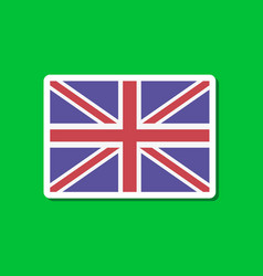 paper sticker on stylish background britain flag vector image