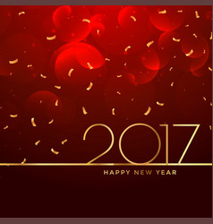 2017 new year celebration background in red color vector image vector image