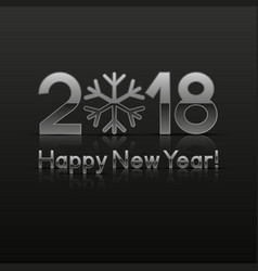 2018 new year greeting card vector