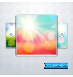 Set of bright shining sun with lens flare web vector
