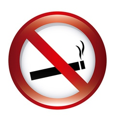 Forbidden smoking design vector