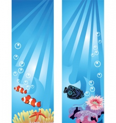 Underwater fish vector