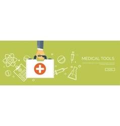 Flat header medical vector