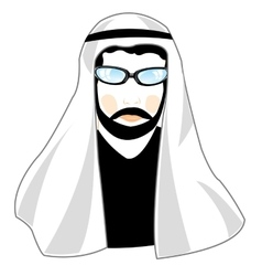 Man arab in national cloth vector image