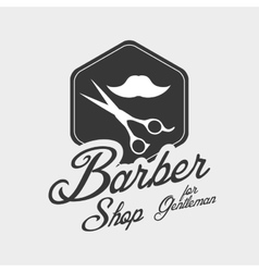 Barber shop hair care concept isolated vector