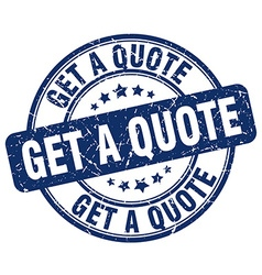 Get a quote stamp vector