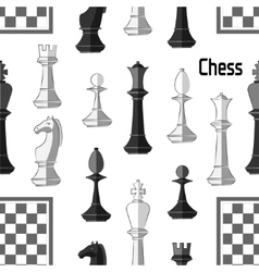 Chess board game pattern vector