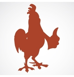 Cartoon rooster silhouette vector