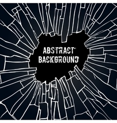 Abstract black effect background vector