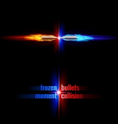Bullets collision vector image