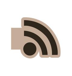 Contour emblem wifi icon vector