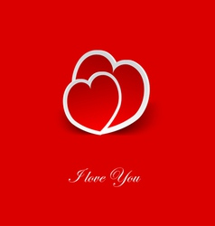 couple of red hearts vector image vector image