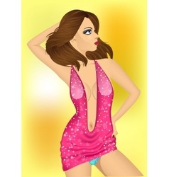 dancing queen in the night club vector image vector image