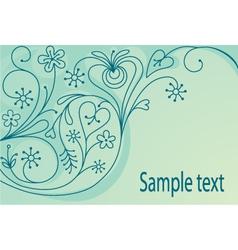 Decorative orante background vector image vector image