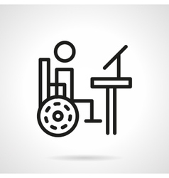 Disability distance education line icon vector