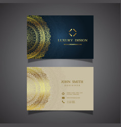 elegant business card design vector image vector image