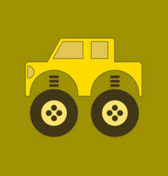 Flat icon on background kids toy car vector