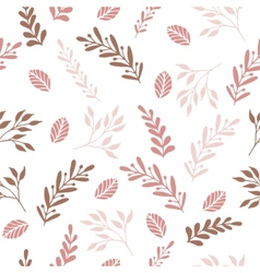 Floral seamless pattern with branches and leaves vector image vector image