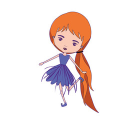 Girly fairy with wings and redhead with pigtail vector