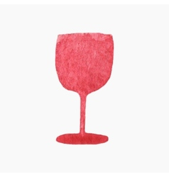 Glass of red wine Hand-drawn vector image vector image
