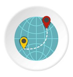 globe icon circle vector image vector image