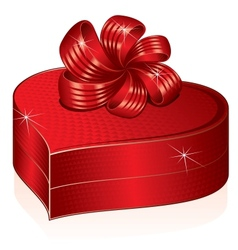 Heart Shaped Gift Box Picture vector image