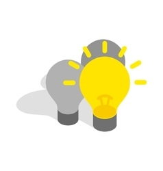 Light stays on icon isometric 3d style vector image vector image