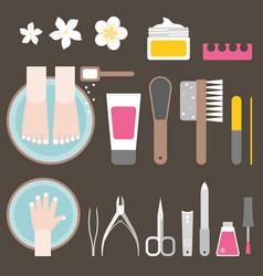 Manicure and pedicure flat design vector