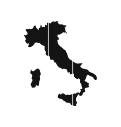 Map of Italy icon flat style vector image